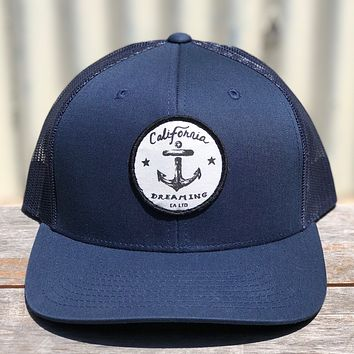 Navy Anchor Trucker hat