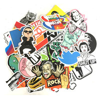 50pcs/lot Mixed funny hit sticker for kids Home decor jdm on laptop sticker decal fridge skateboard doodle stickers toy for kid