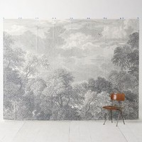 Over & Over Etched Arcadia Mural in Grey Motif Size: One Size Wall Decor