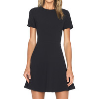 WAYF Short Sleeve Dress in Black
