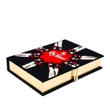 OLYMPIA LE-TAN   The Red Shoes Embroidered Felt Clutch   brownsfashion.com   The Finest Edit of Luxury Fashion   Clothes, Shoes, Bags and Accessories for Men & Women