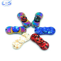 (LONSUN) Colorful color Hand Spinner Fidget Spinner Metal Kirsite EDC  For Autism and ADHD Rotation toy