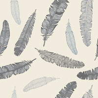 Removable Wallpaper - Grey Goose Feathers