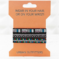 Aztec Hair and Wrist Elastics - Urban Outfitters