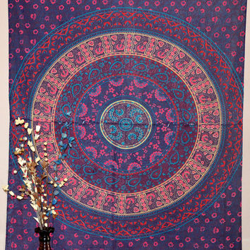 Mandala tapestry bed sheet hippie blanket Gypsy tapestries bed cover Indian wall hanging boho bed throw blanket beach throw wall art