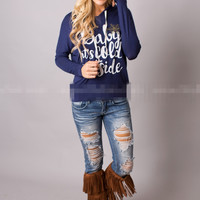 Casual Letter Print Hoodie Sweater