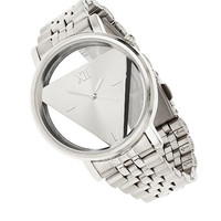 Silver Triangle Watch