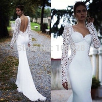 Custom Made Mermaid Floor Length Court Train Full Sleeve with Lace Sweetheart Backless Prom Dresses 2014 New Design-in Prom Dresses from Apparel & Accessories on Aliexpress.com | Alibaba Group