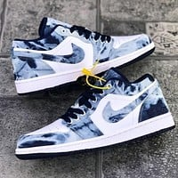 NIKE SB dunk low pro Denim blue distressed low-top sneakers basketball shoes sports shoes