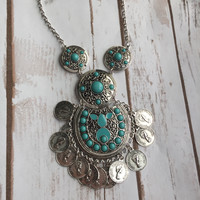 Electra Boho Necklace (Blue)
