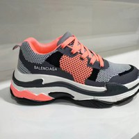 """Balenciaga"" Women Sport Casual Fashion Multicolor Breathable Thick Bottom Sneakers Retro Running Shoes"