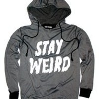 STAY WEIRD Unisex Hood Sweatshirt