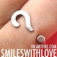 Adjustable Question Mark Punctuation Adjustable Ring in Silver