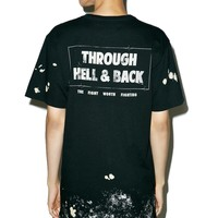 Hell & Back Lt French Terry Thrashed Drop Tee