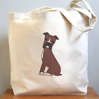Boxer Canvas Tote Bag perfect for groceries