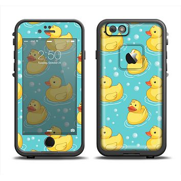 The Cute Rubber Duckees Apple iPhone 6/6s LifeProof Fre Case Skin Set