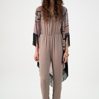 Sand Brown Jump Suit