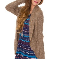Keep Me Close Cardigan - Taupe