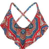 Lucky Brand Groove Swimwear Top