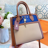 LV New fashion print leather chain shoulder bag crossbody bag handbag