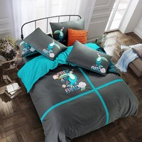 Svetanya Fashion Embroidered Luxury Bed Linens Queen King Size Beding Set 100% Cotton  Sheet Pillowcases Duvet cover sets