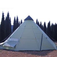 DANCHEL Waterproof and Anti-wind Teepee Camping Tent for 10 People