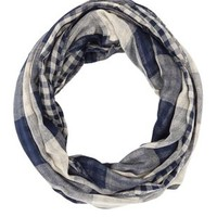 Combo Checkered Plaid Infinity Scarf by Charlotte Russe