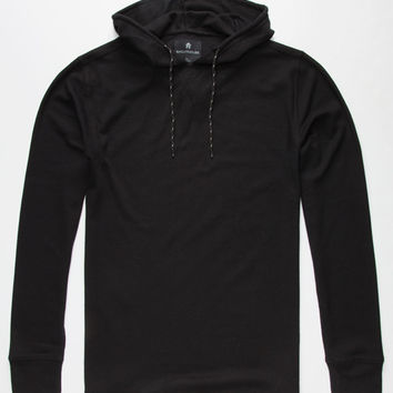 Shouthouse Mens Hooded Thermal Black  In Sizes