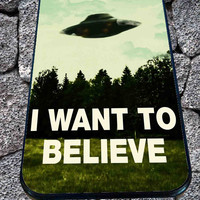 I Want To Believe X-Files for iPhone 4/4s/5/5S/5C/6, Samsung S3/S4/S5 Unique Case *99*