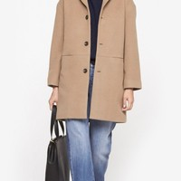A.P.C. 50'S Fit Coat in Tabac | The Dreslyn