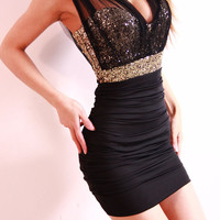 Black With Sequined Dress