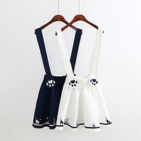Cat Paws Suspender Skirt