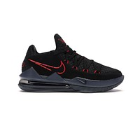 Nike Men's Lebron 17 Low Black University Red Bred