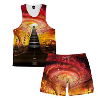 Stairway To Heaven Tank and Shorts Rave Outfit
