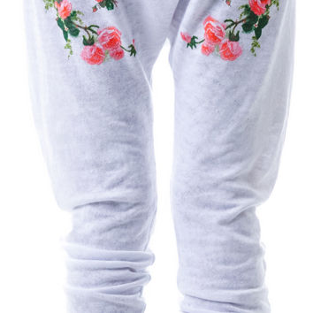 Wildfox Couture Roses Are Red Horse Shoe Sweats Clean White