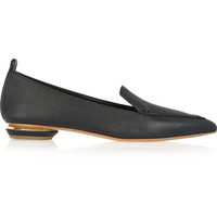 Nicholas Kirkwood - Beya textured-leather point-toe flats