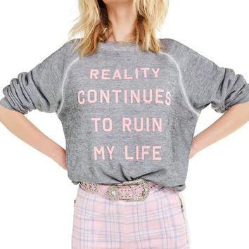 Reality Continues Sommers Sweater | Heather