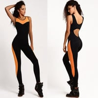 Patchwork Sports Jumpsuit [10604249551]