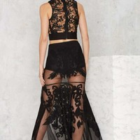 Nasty Gal Baroque 'n' Bad Embroidered Skirt