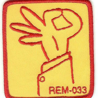 REM Iron-On Patch Fingers Logo
