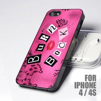 Famoust Pink Mean Girls Burn Book design for iPhone 4 or 4s case