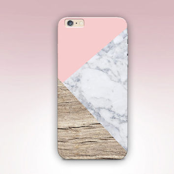 Wood Marble Phone Case For - iPhone 6 Case - iPhone 5 Case - iPhone 4 Case - Samsung S4 Case - iPhone 5C - Matte Case - Tough Case