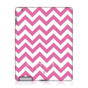 Head Case Designs Pink Chevron Pattern Protective Hard Back Case Cover For Apple iPad 2