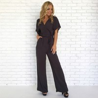 Sweet Caroline Jumpsuit in Charcoal