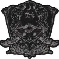 Star Wars Lord Vader Dark Side Embroidered Iron On Applique Patch