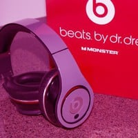 New! Metallic HOT Pink Skins for Studio Beats By Dr. Dre (Skin Kit Only - Headsets Not Included)
