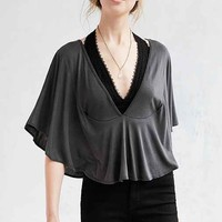 Truly Madly Deeply Flutter Plunge Cropped Top