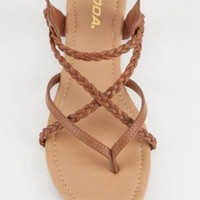 SODA Criss Cross Braided Womens Sandals | Sandals