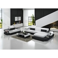 Modern design l shaped sectional sofa leather luxury sofa sets