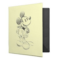 Sketch Mickey Mouse Binder from Zazzle.com